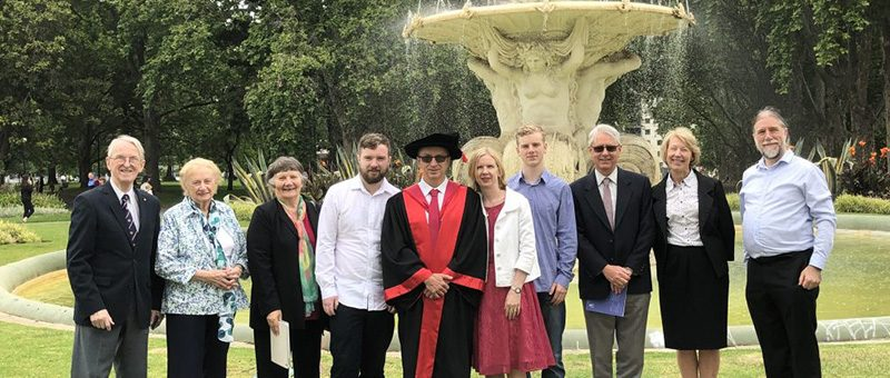 David Whittle awarded a Doctorate (PhD) by the University of Melbourne